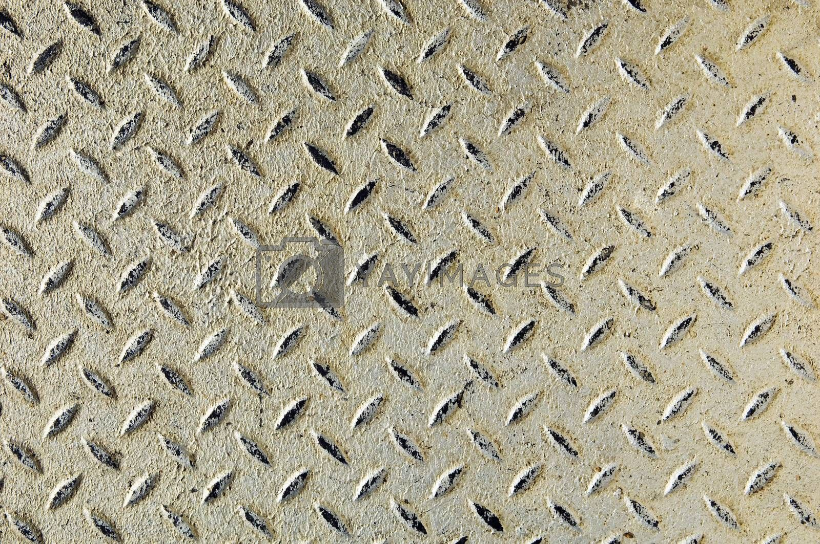 Detail of a diamond iron plate suitable for background