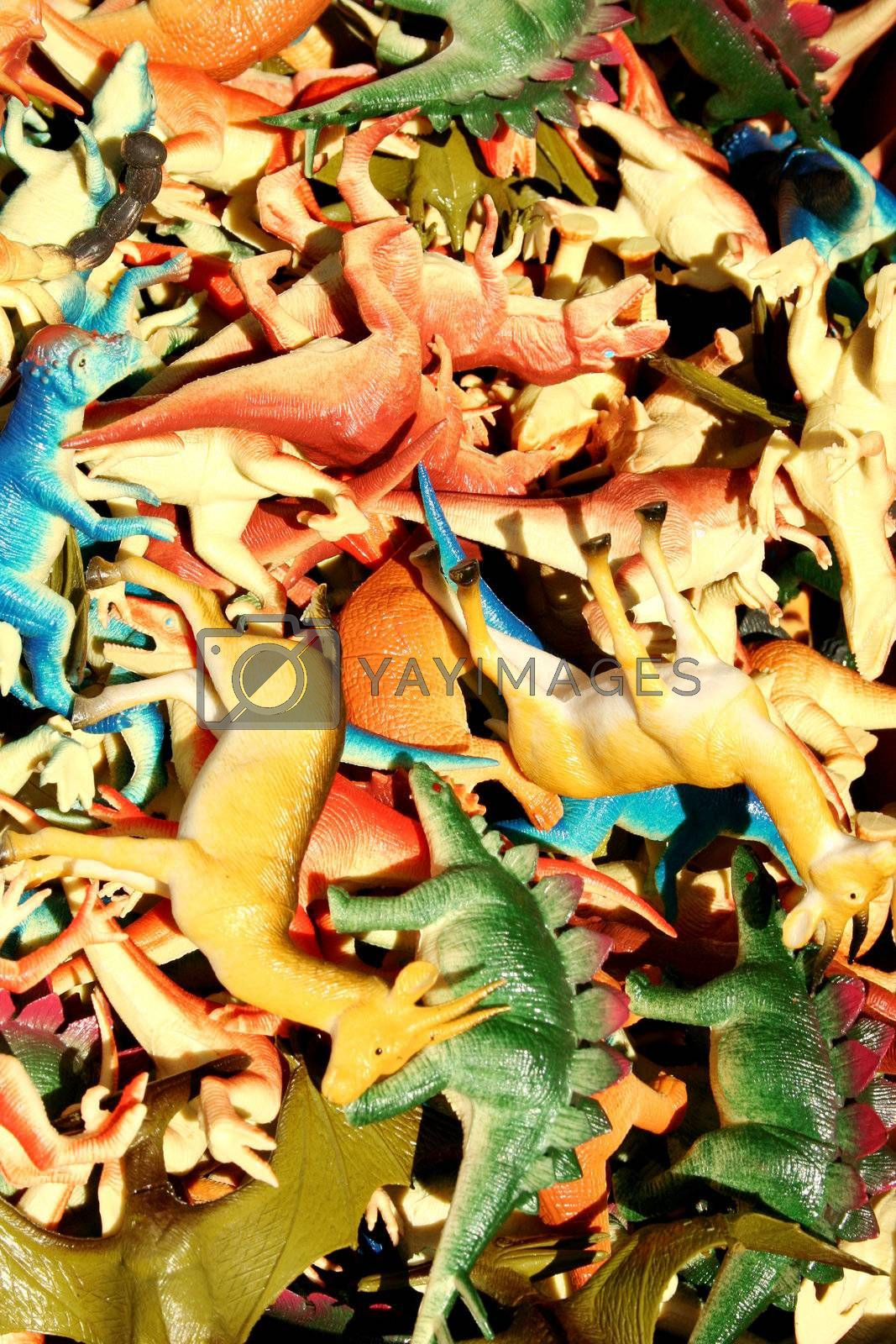 assorted Plastic animals for sale at the flea market