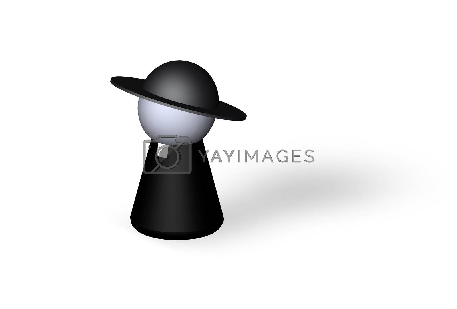 play figure holy man in black