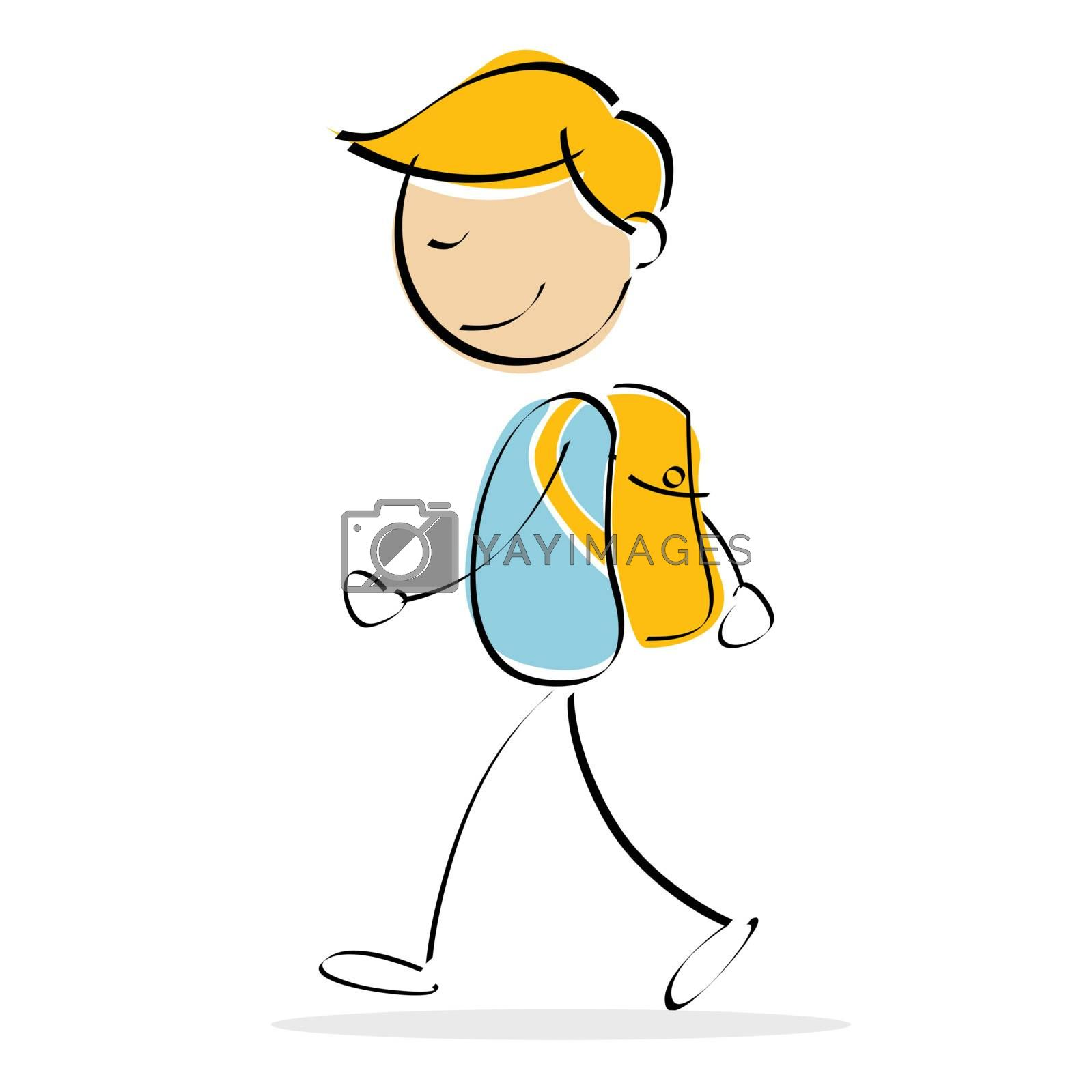 illustration of vector kid