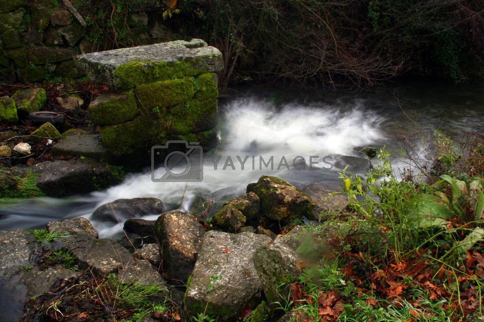 water and beautiful cascade