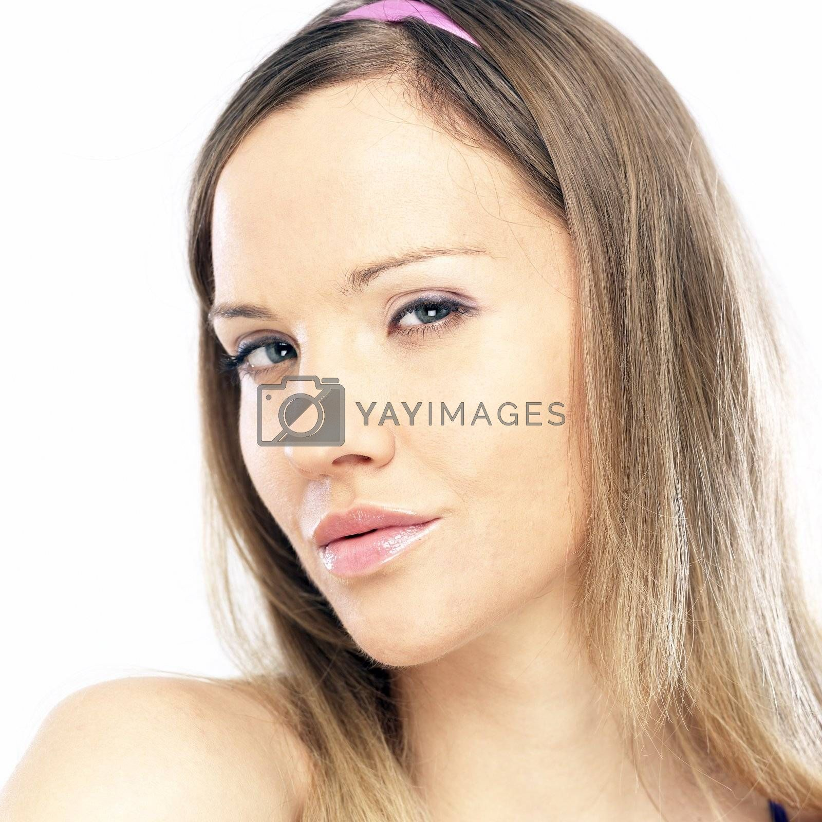 Young beautiful woman with blond hair