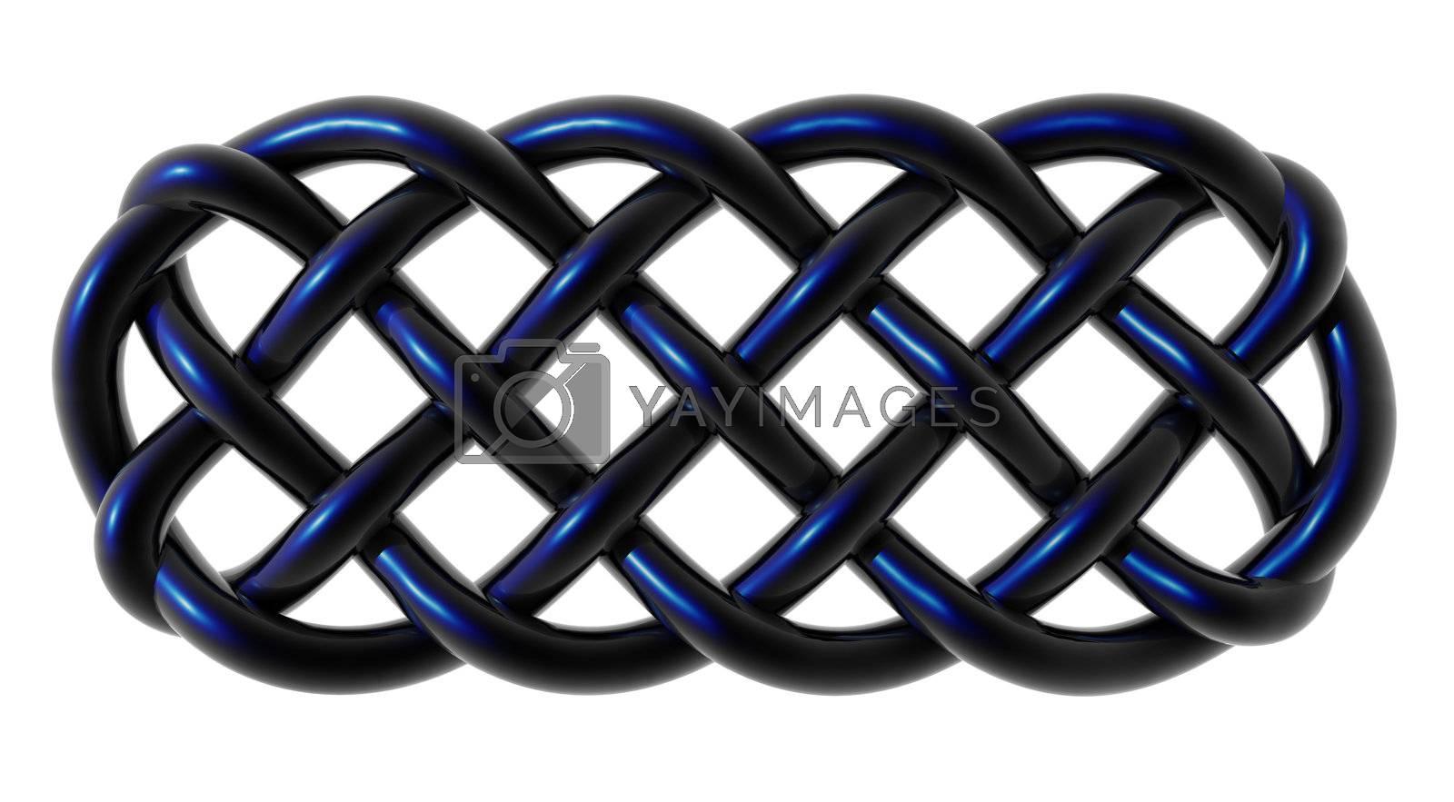 celtic knots ornament on white background - 3d illustration