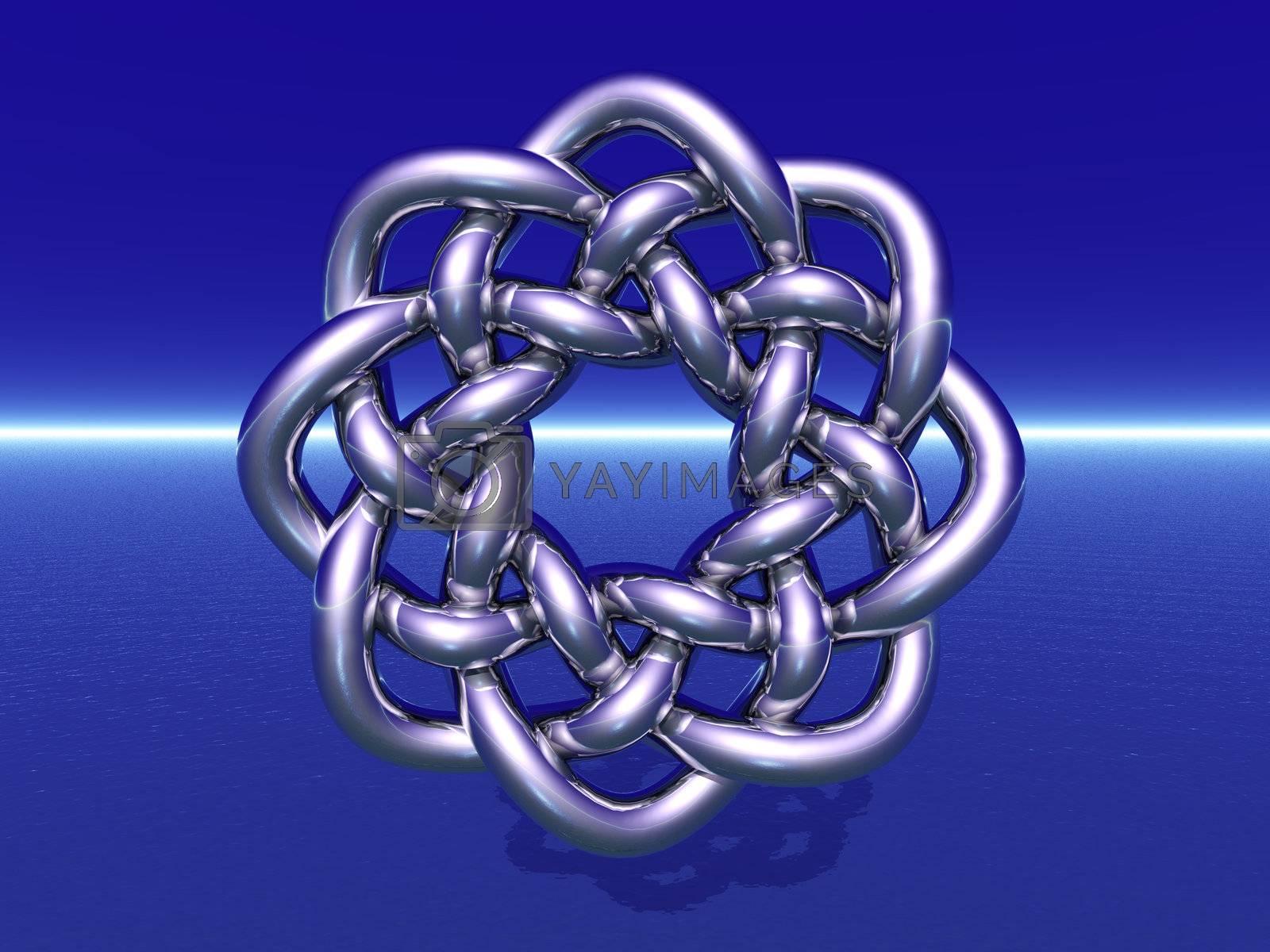 celtic knots design on blue background