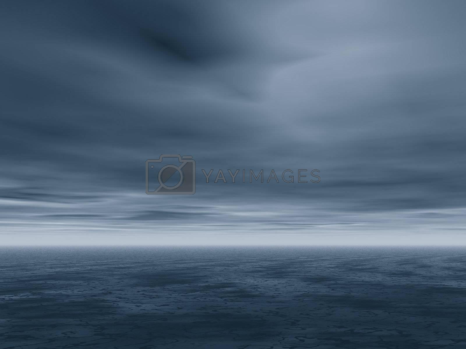 dark blue landscape - before the storm