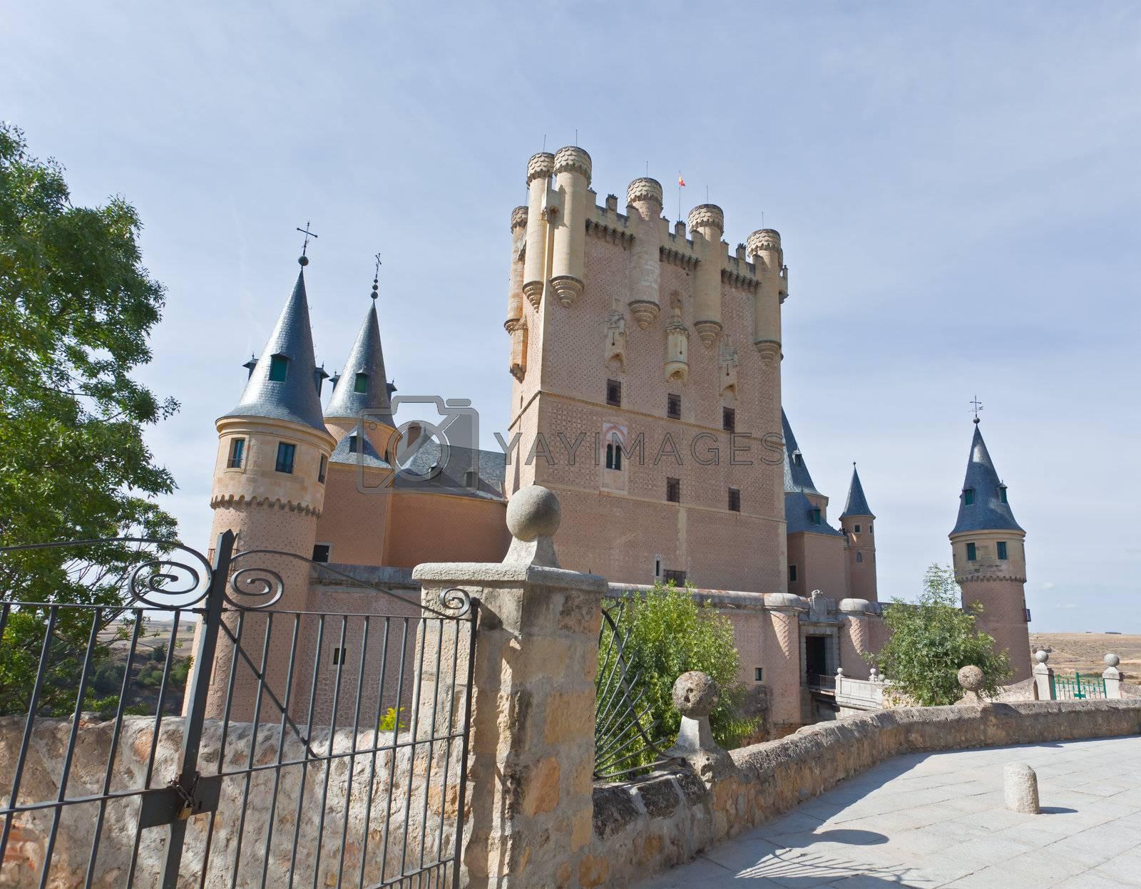 Alcazar fortress of the Segovia city, Spain