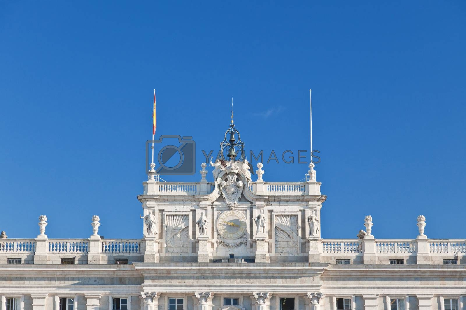 The Royal Palace in Madrid City. Spain