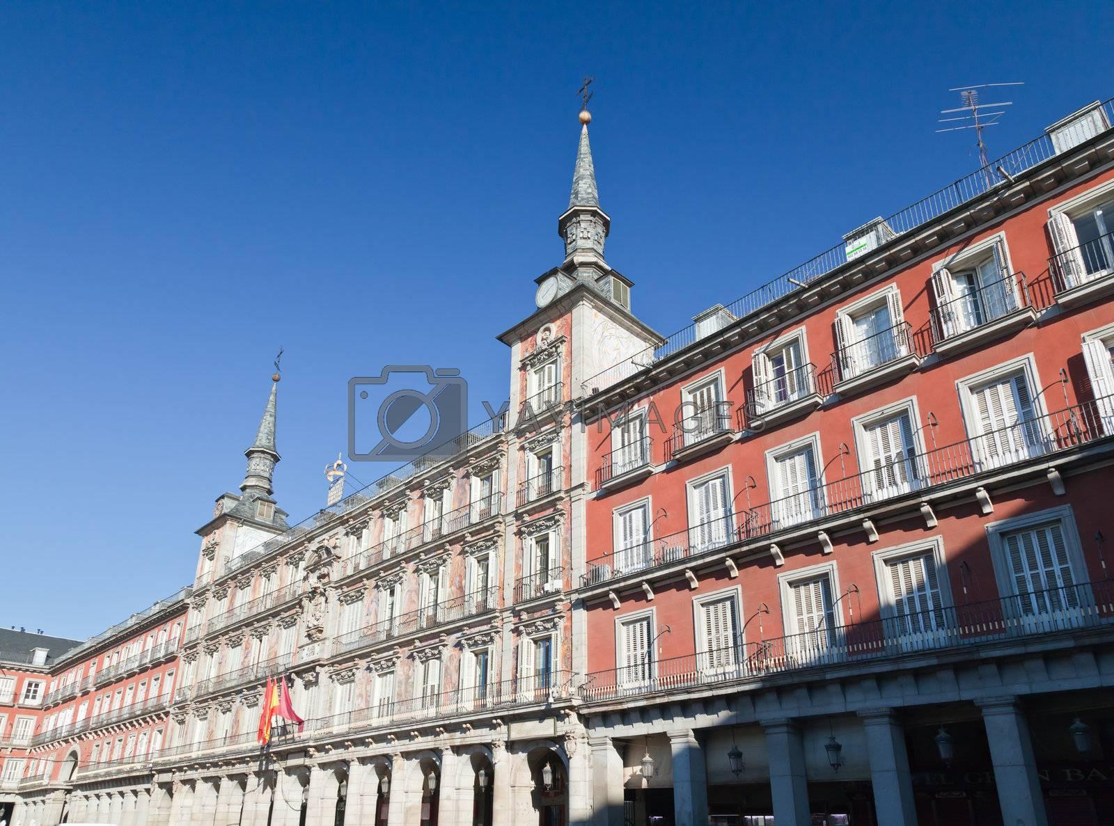 The Plaza Mayor (Main Square) in Madrid, Spain