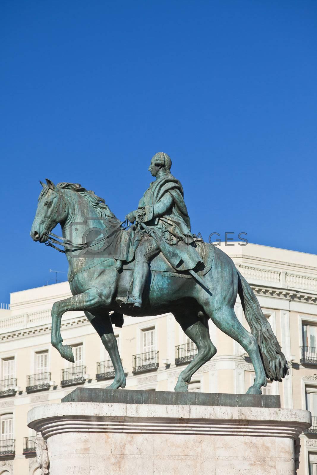 Statue of Carlos III, Puerta del Sol, Madrid, Spain