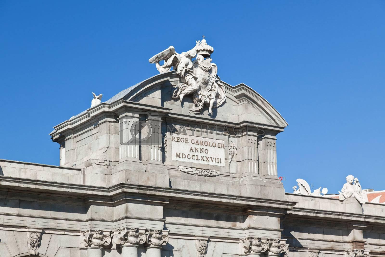 The Puerta de Alcala in Madrid, Spain