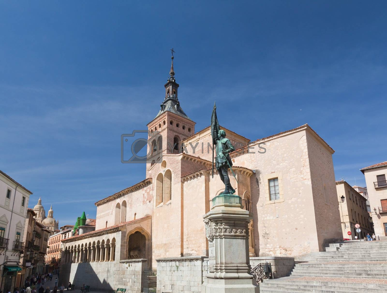 an ancient church in Segovia, World Heritage city, Spain