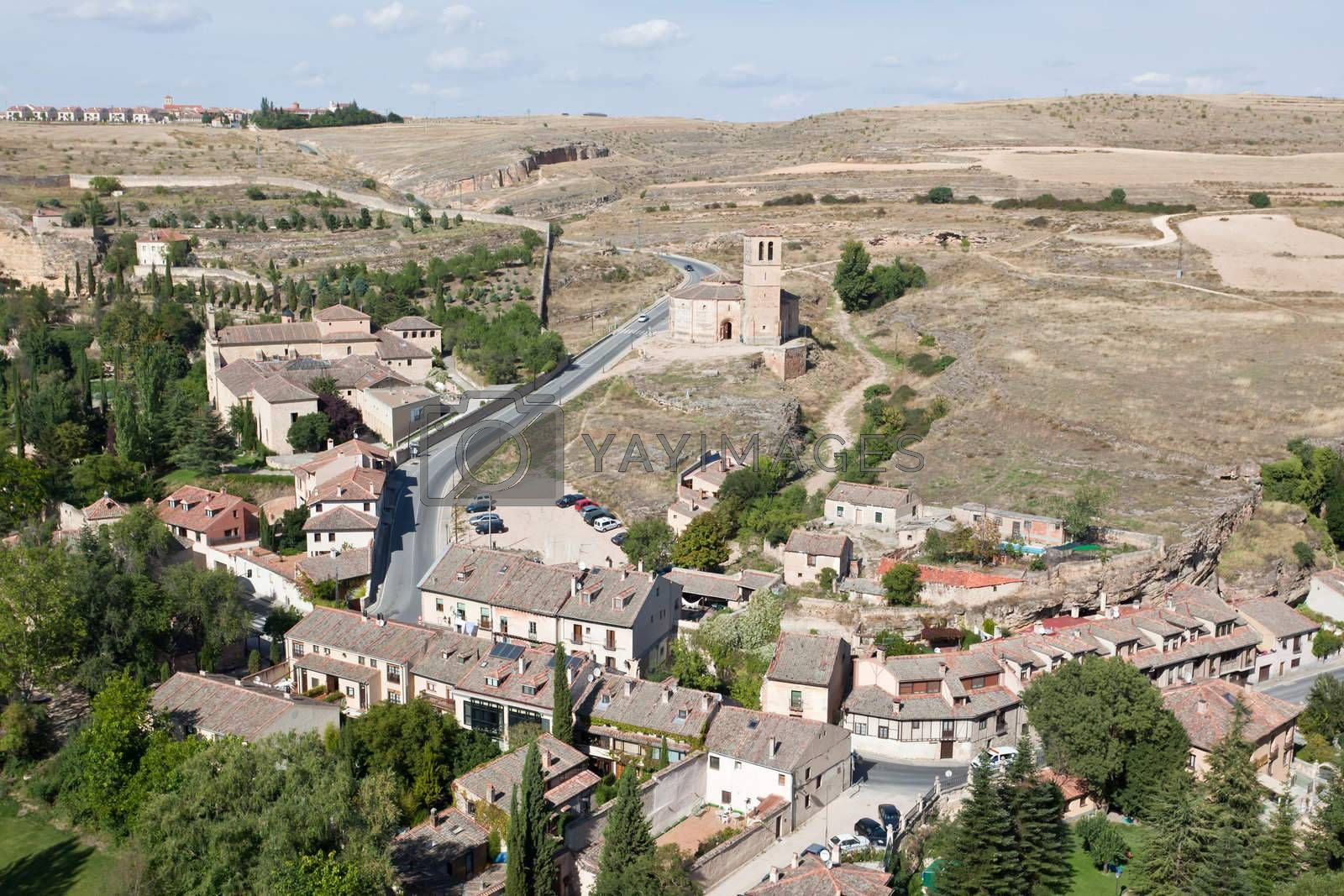 Royalty free image of A general view of Segovia countryside by gary718