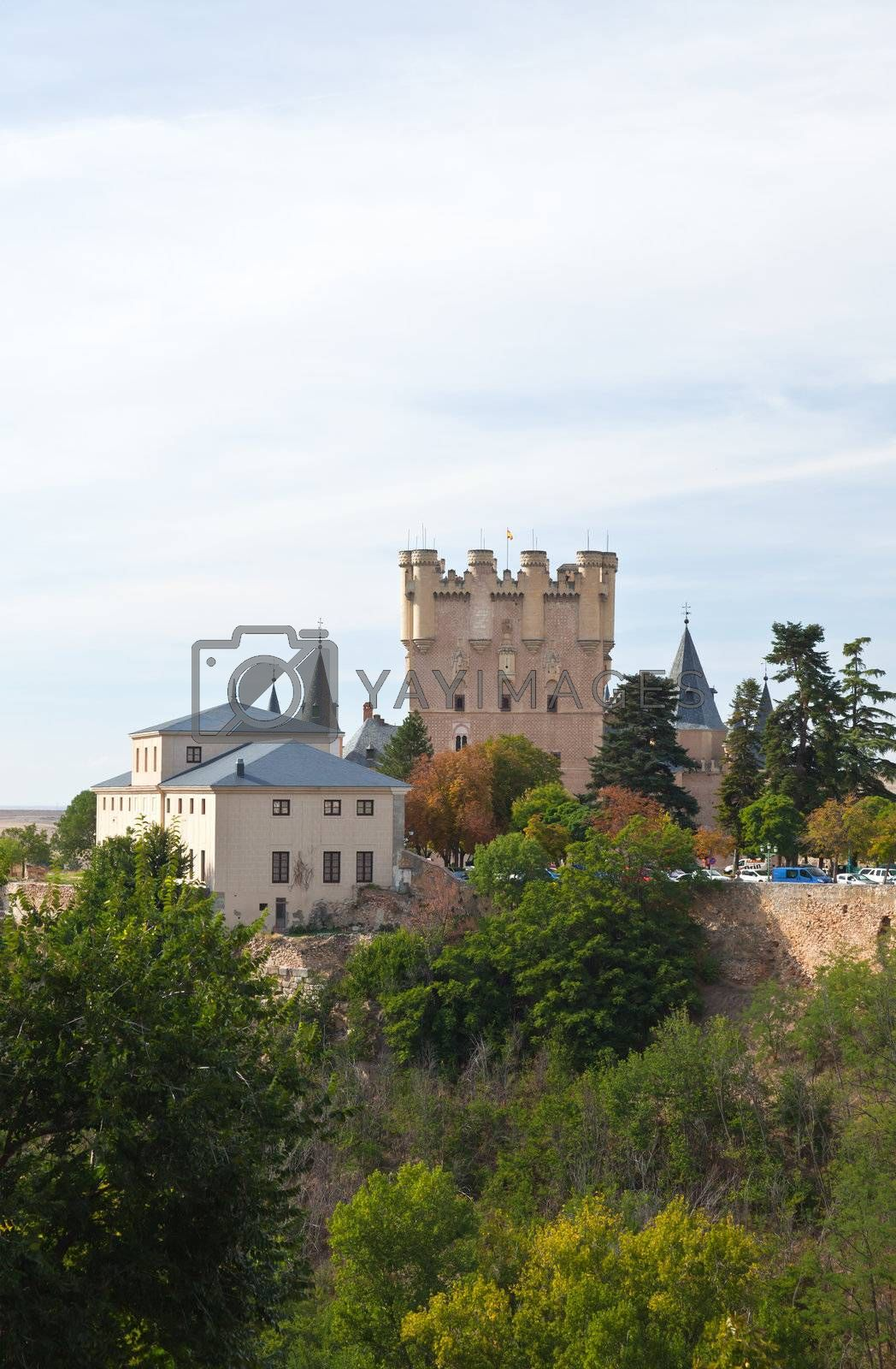 Royalty free image of Alcazar fortress of the Segovia city by gary718