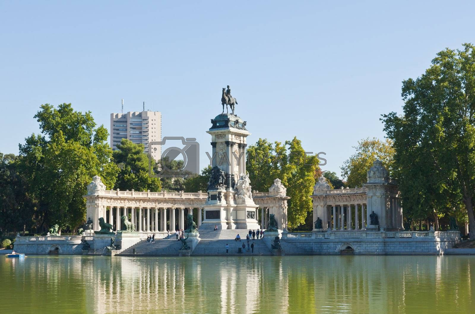 Royalty free image of The Retiro Park in Madrid City by gary718
