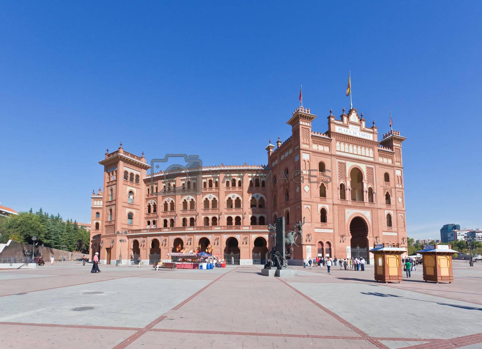 Famous bullfighting arena - Plaza de Toros in Madrid. Spain.