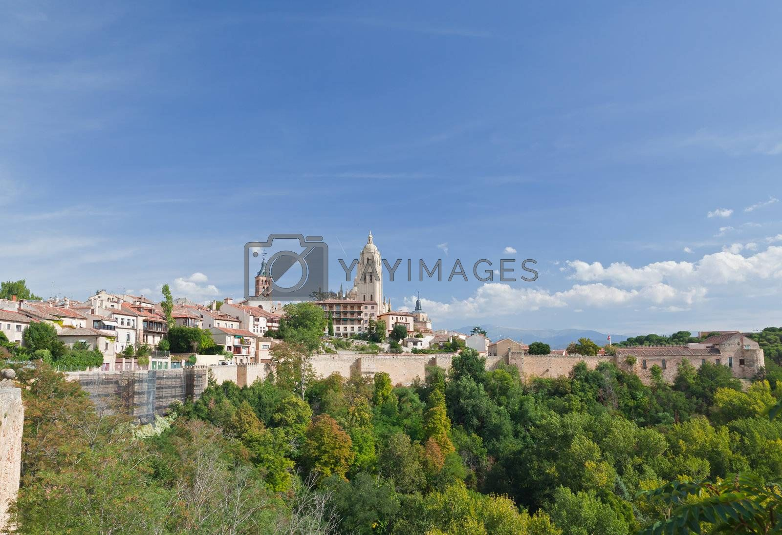 Royalty free image of Segovia cathedral, Spain by gary718