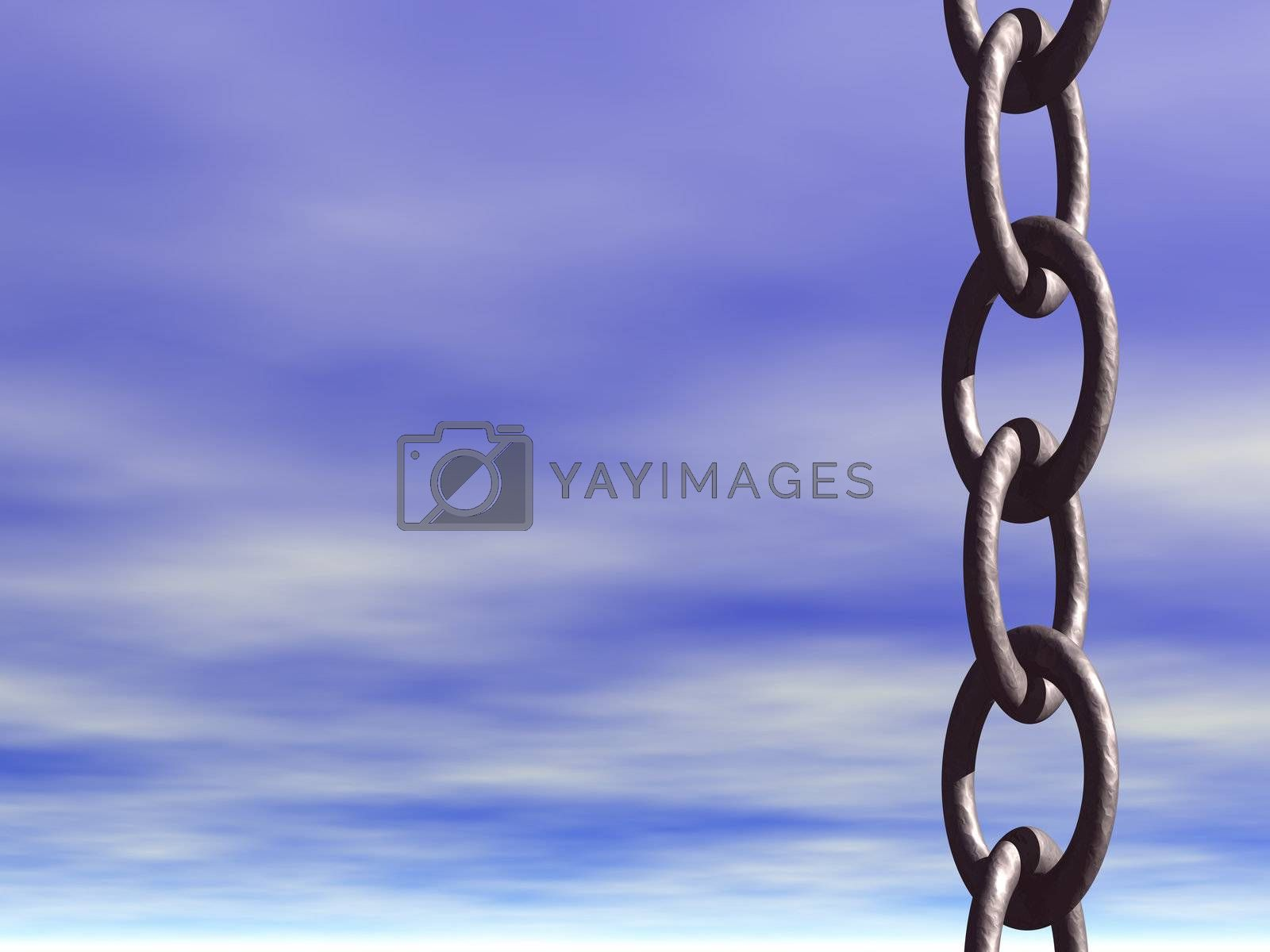iron chains and blue sky