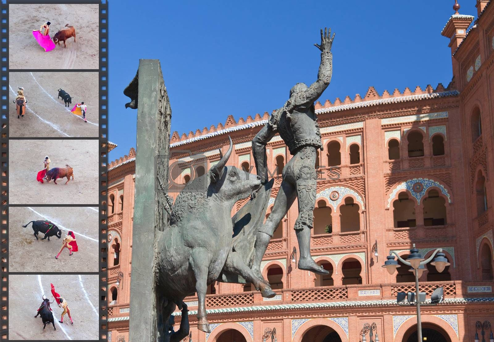 Royalty free image of Famous bullfighting arena - Plaza de Toros in Madrid by gary718