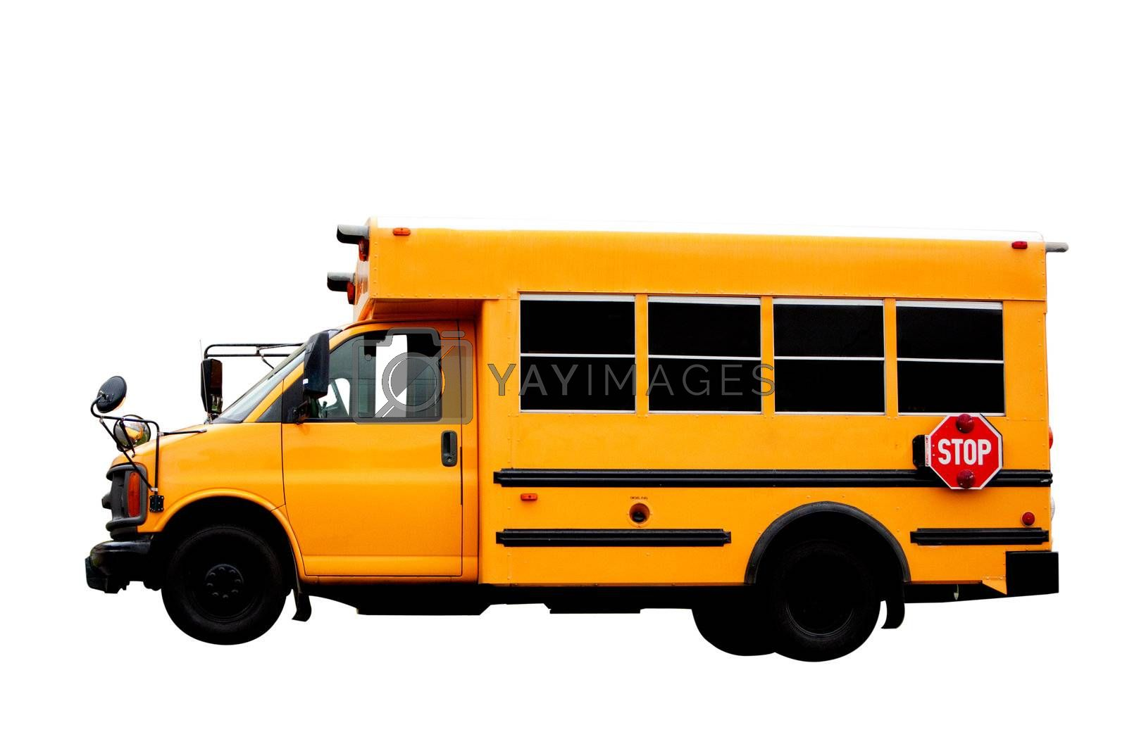 Royalty free image of School Bus by leaf