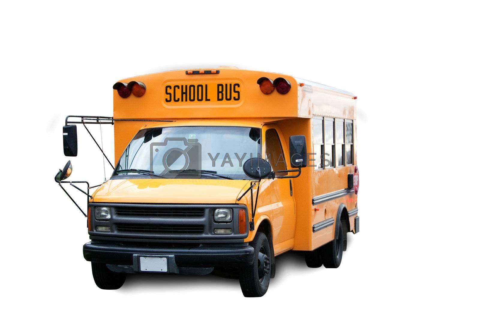 School Bus by leaf