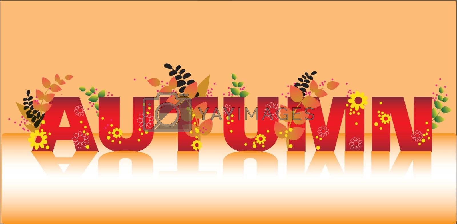 beautiful autumn background  vector eps 10