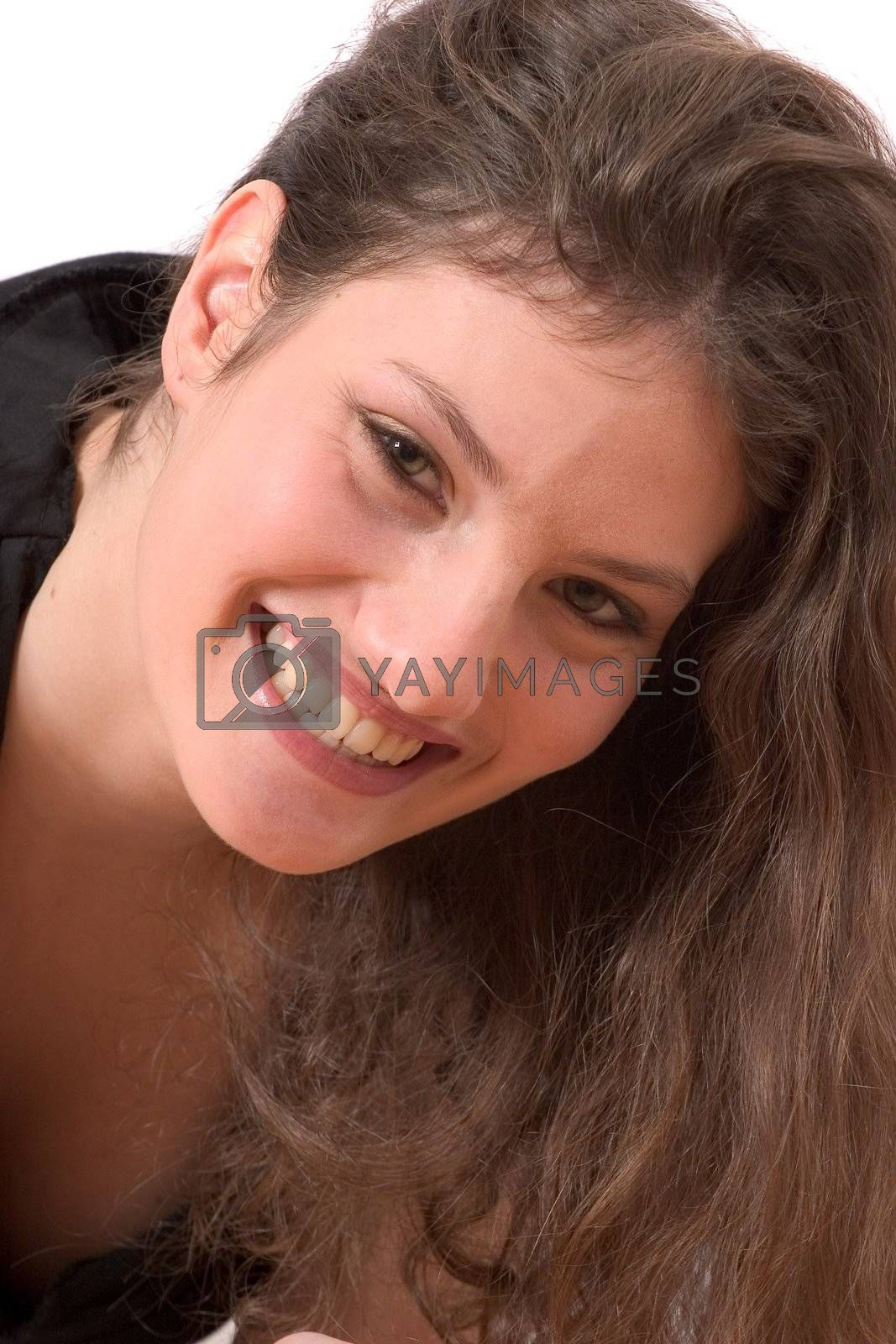 Pretty brunette with a beautiful smile
