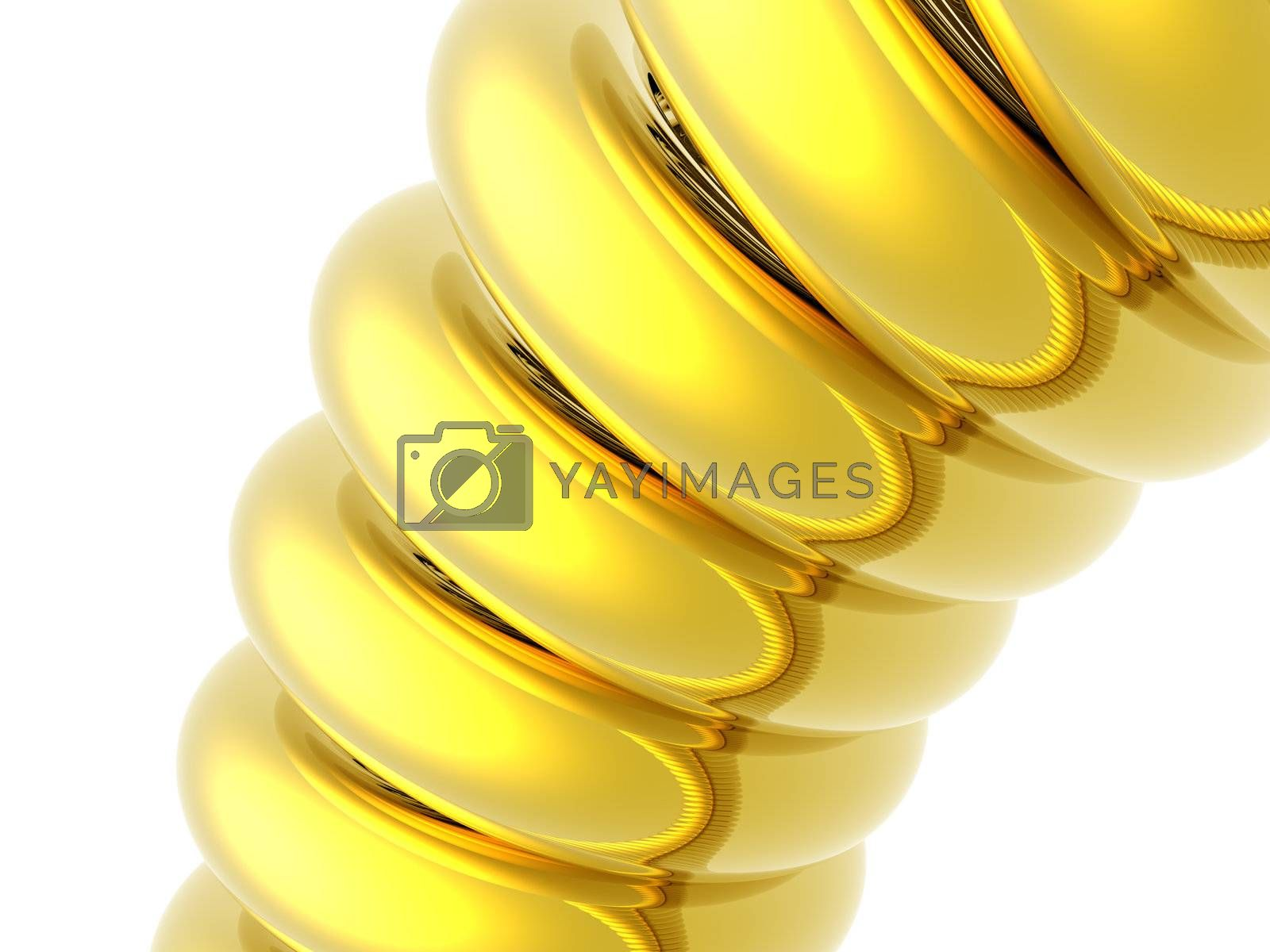 abstract gold thing on white background