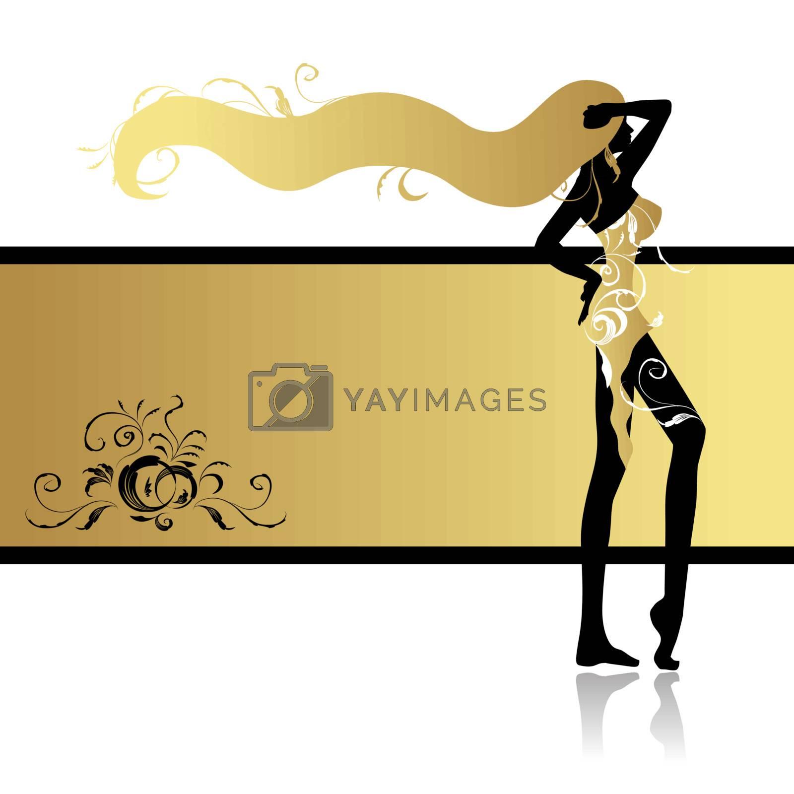 Fashion girl in dance