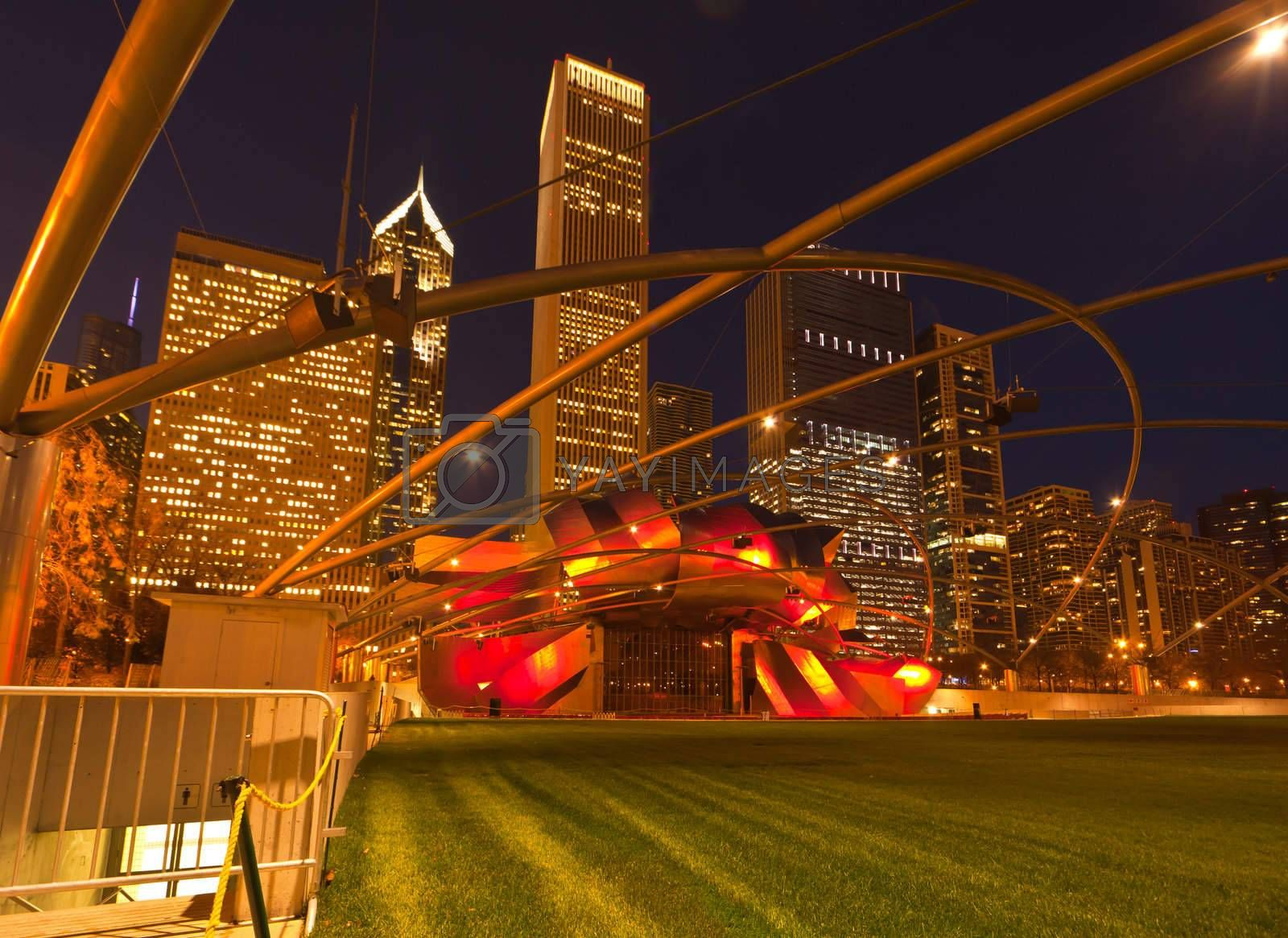 Royalty free image of The Millennium Park in downtown Chicago by gary718