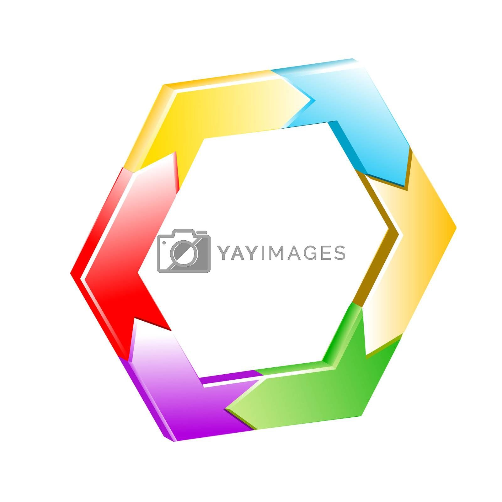hexagon vector background Royalty Free Stock Image ...