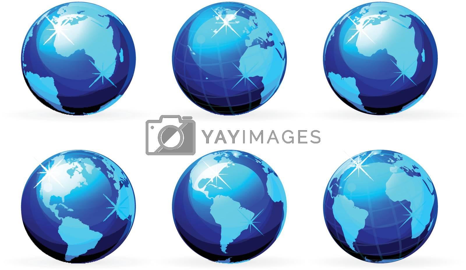 earth icon set isolated on white background