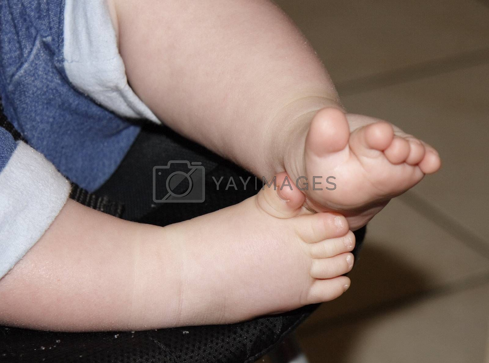babies feet and toes with chunky legs