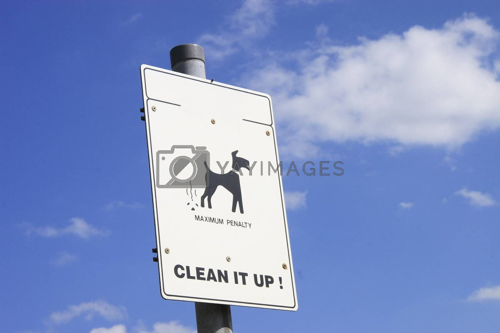 warning to people to clean the mess up from their dogs