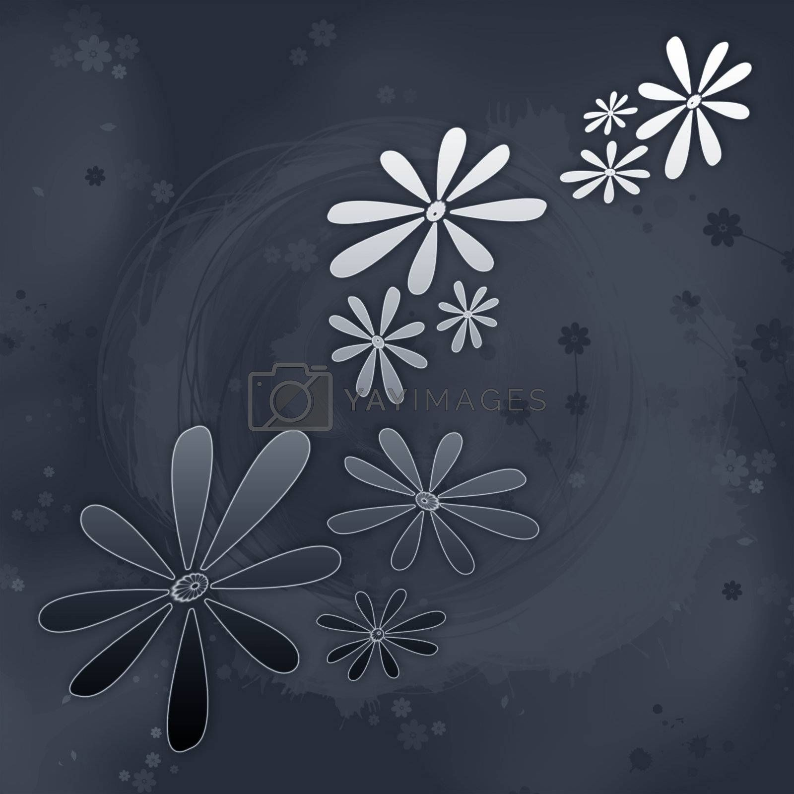 Abstract background from flower on a dark background