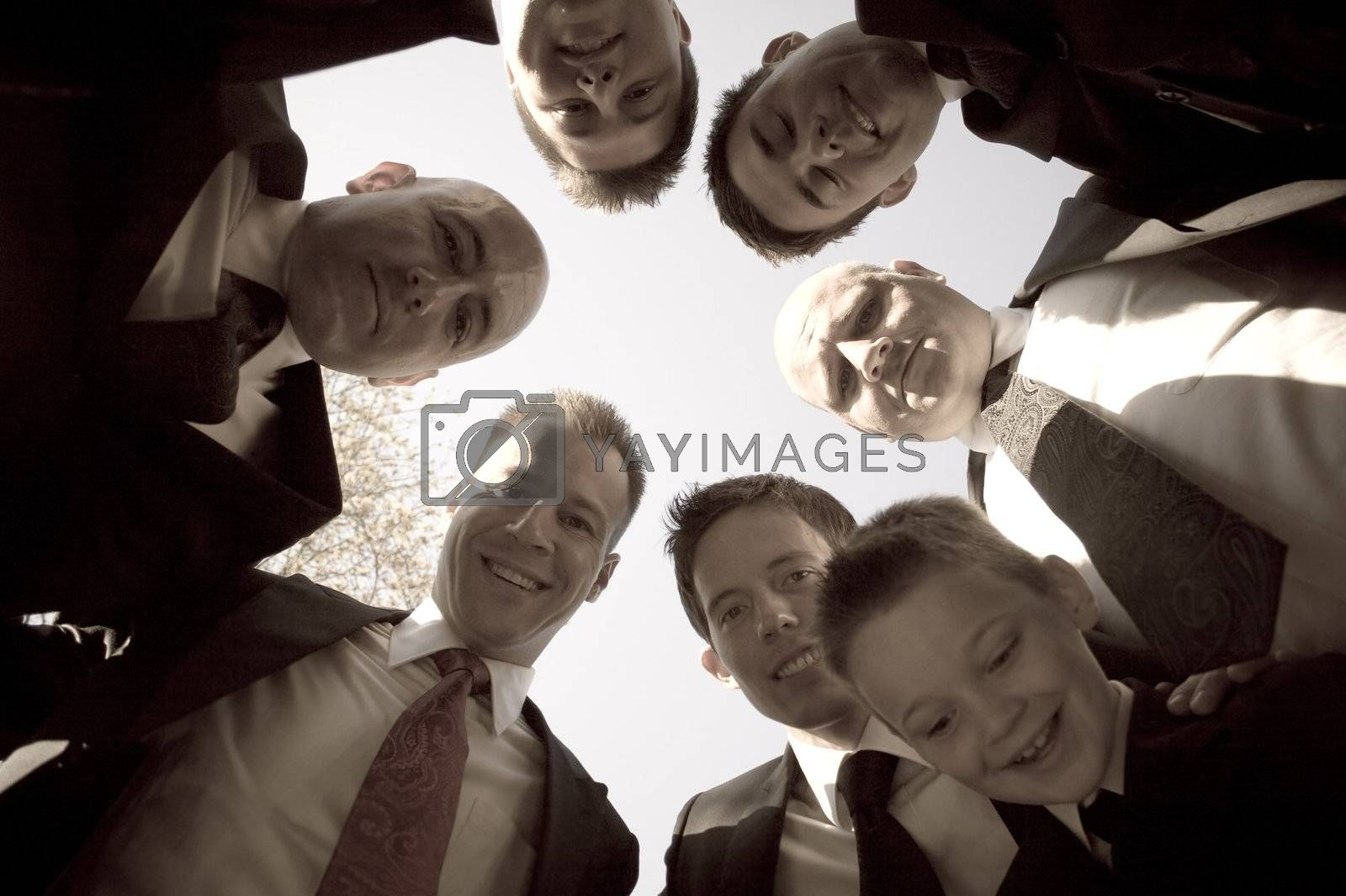 Groomsmen Huddle by graficallyminded