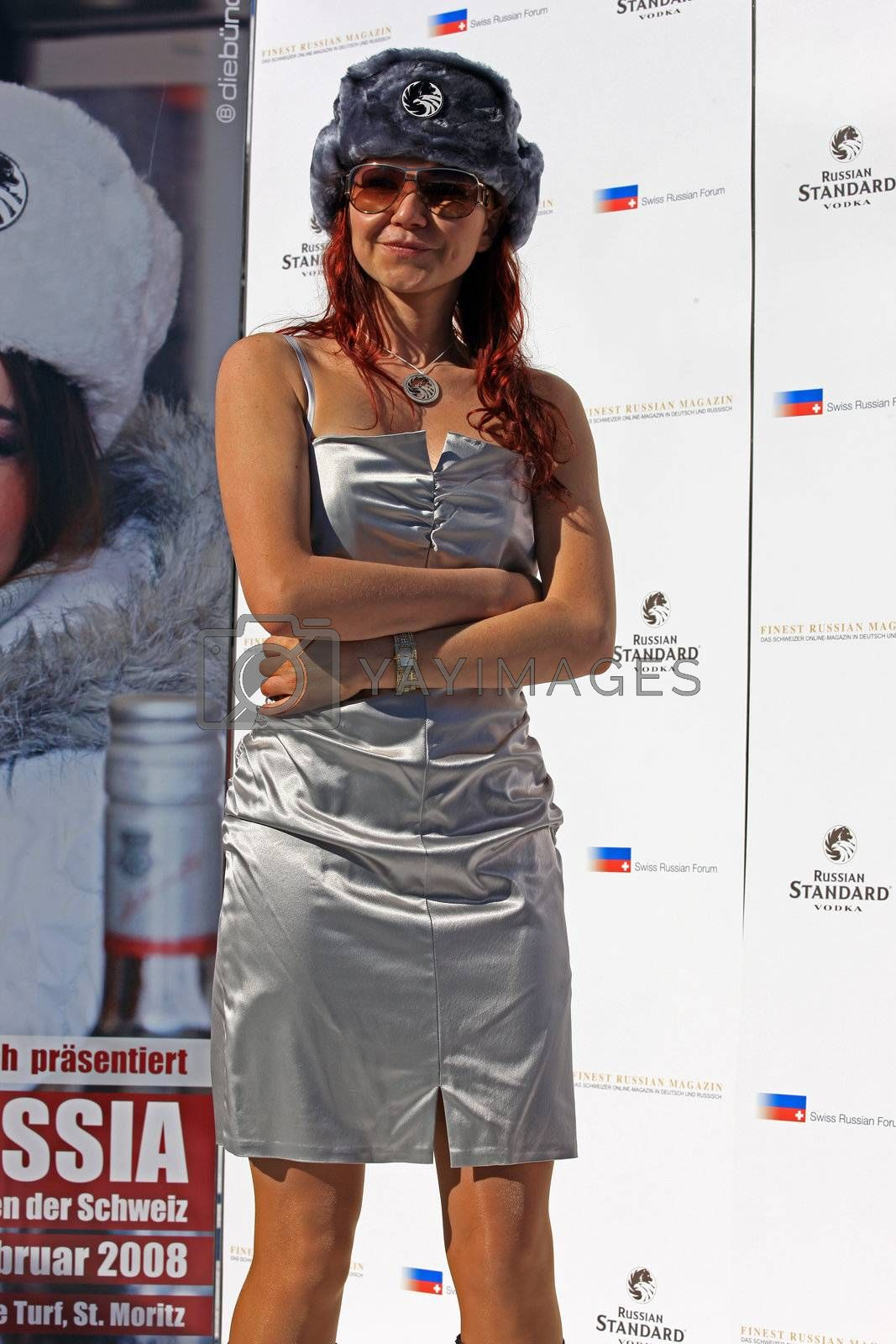 Royalty free image of Miss Russia finalists 2008 in St. Moritz by monner