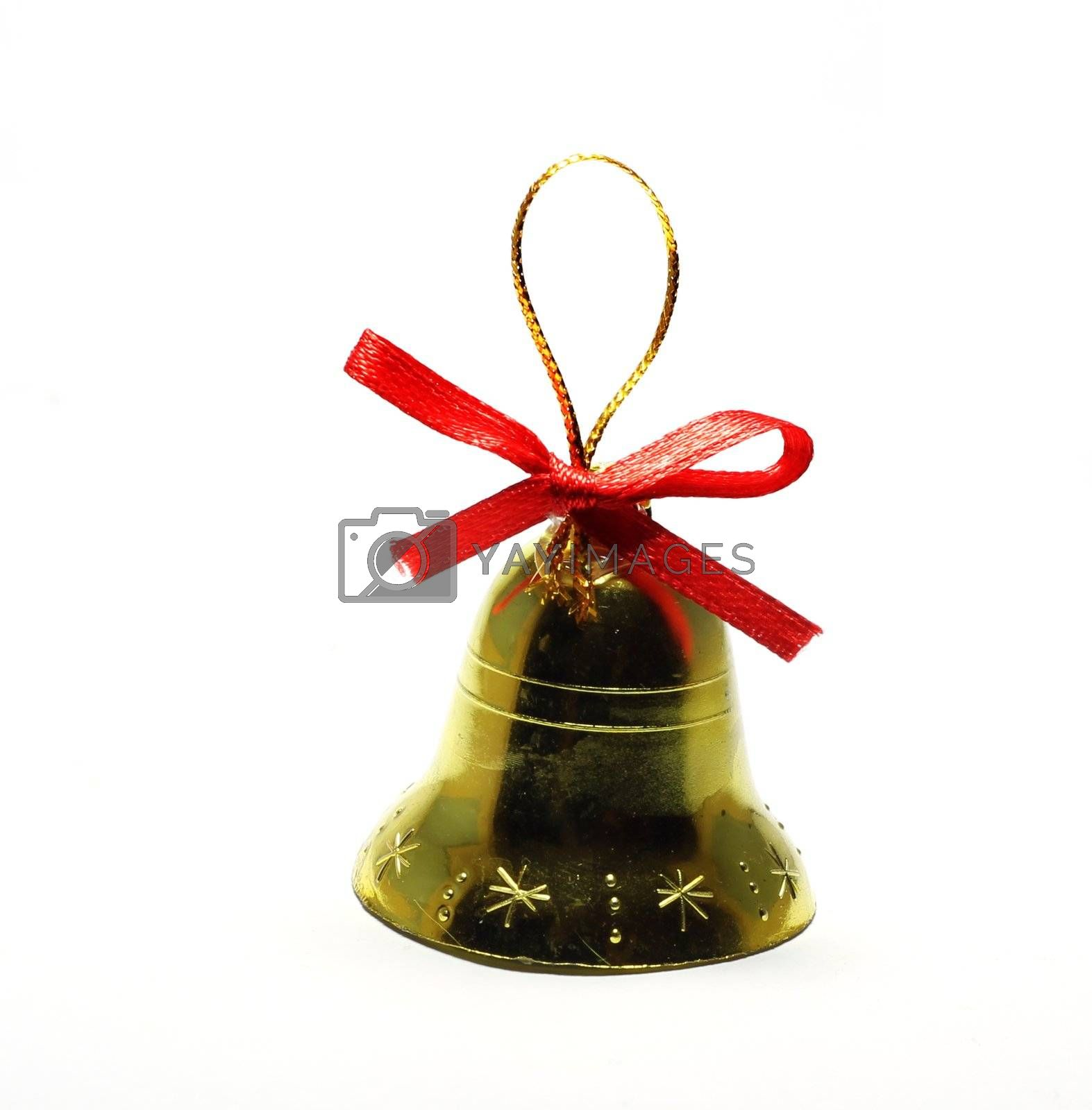 Christmas bell toy isolated on white background