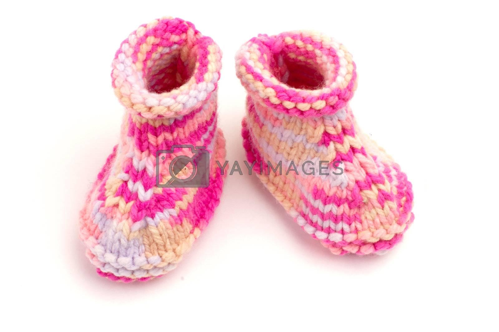 Royalty free image of baby slipper by niavuli