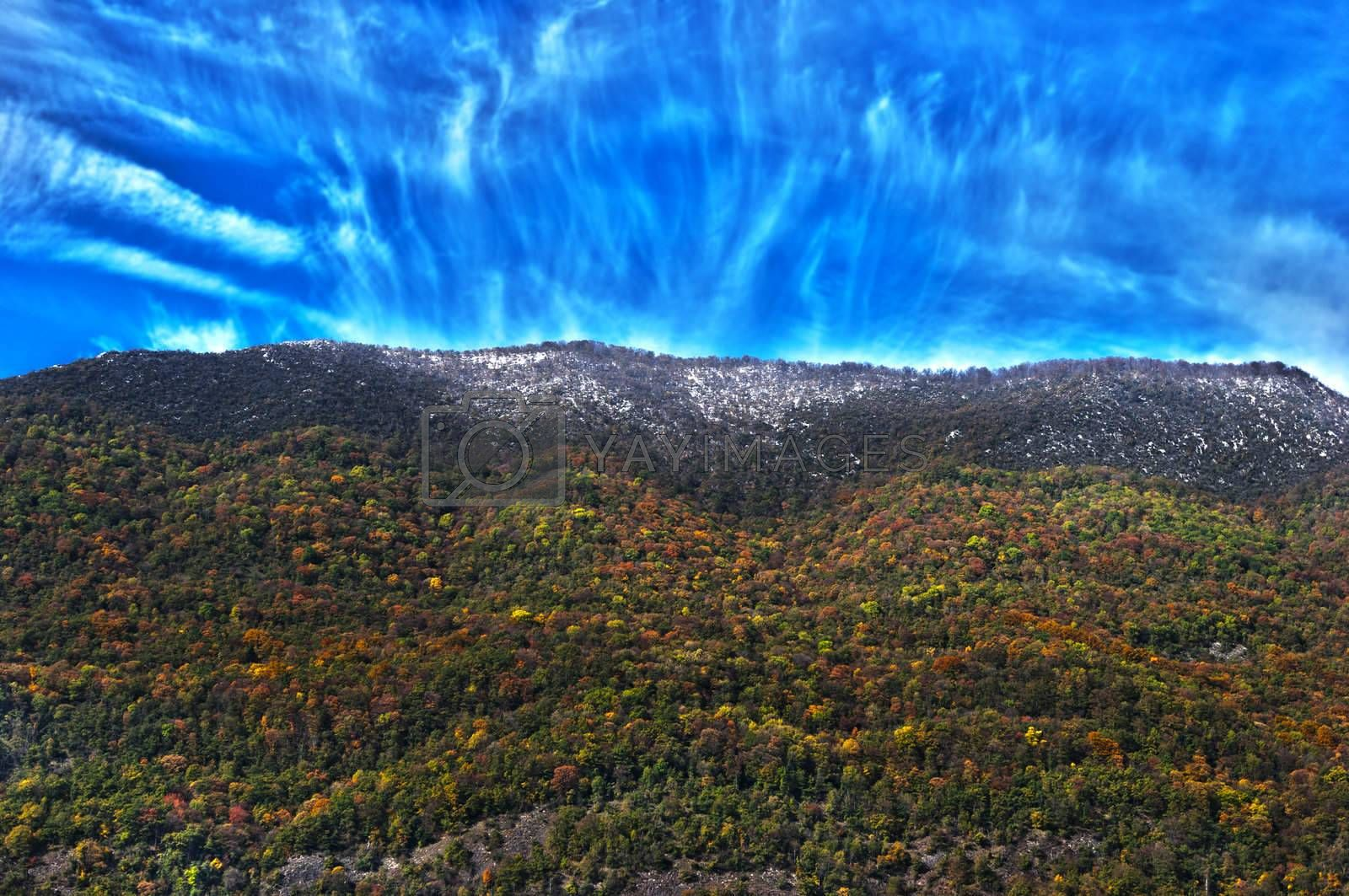 Royalty free image of moutain in autumn by niavuli