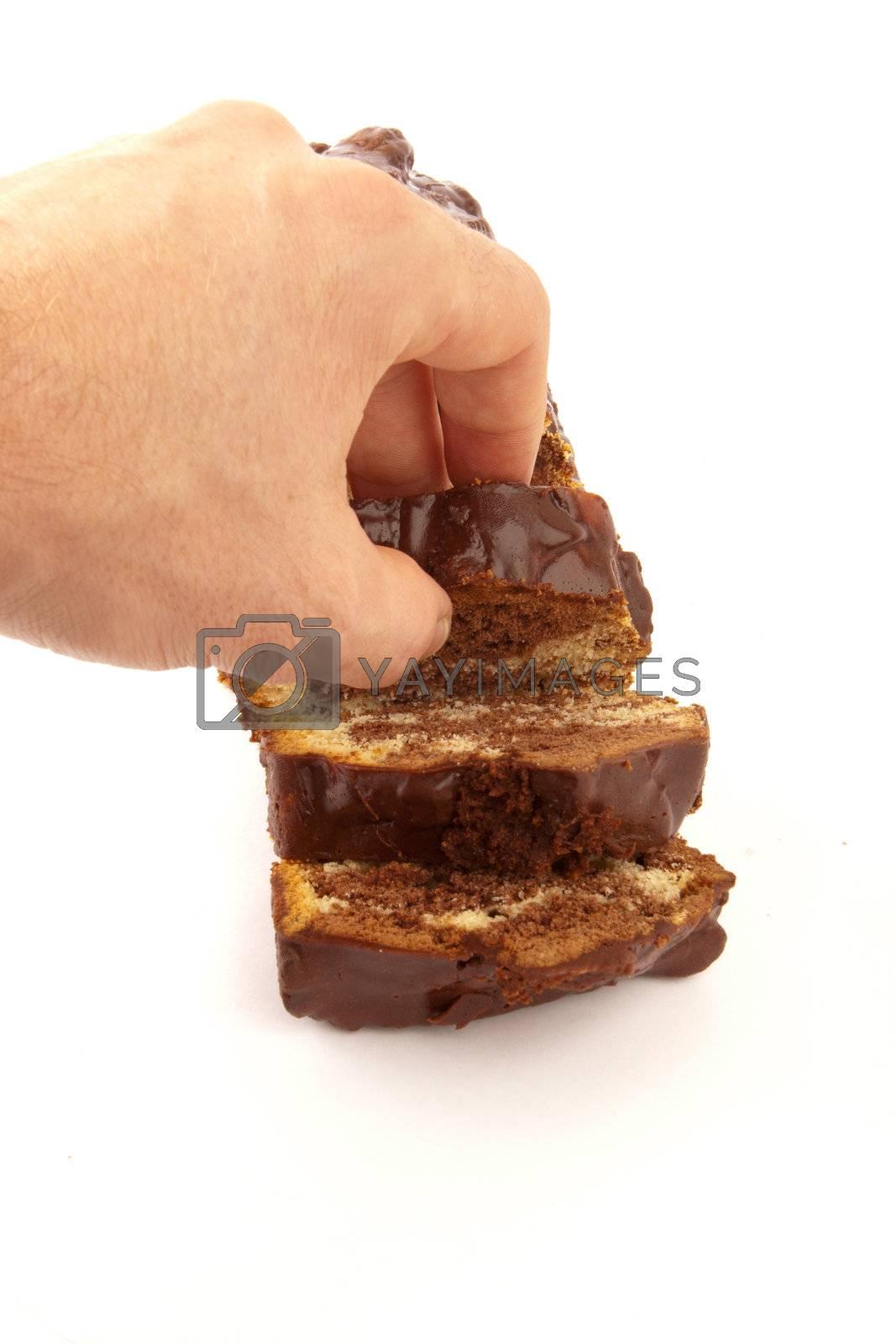Royalty free image of chocolate cake by niavuli