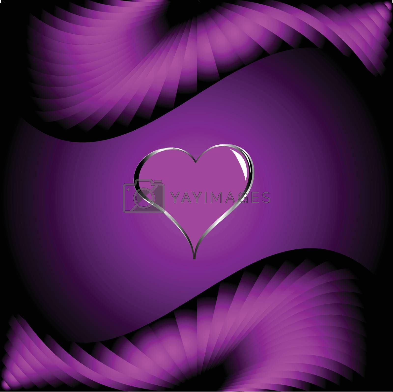 Royalty free image of A purple hearts Valentines Day Background by mhprice