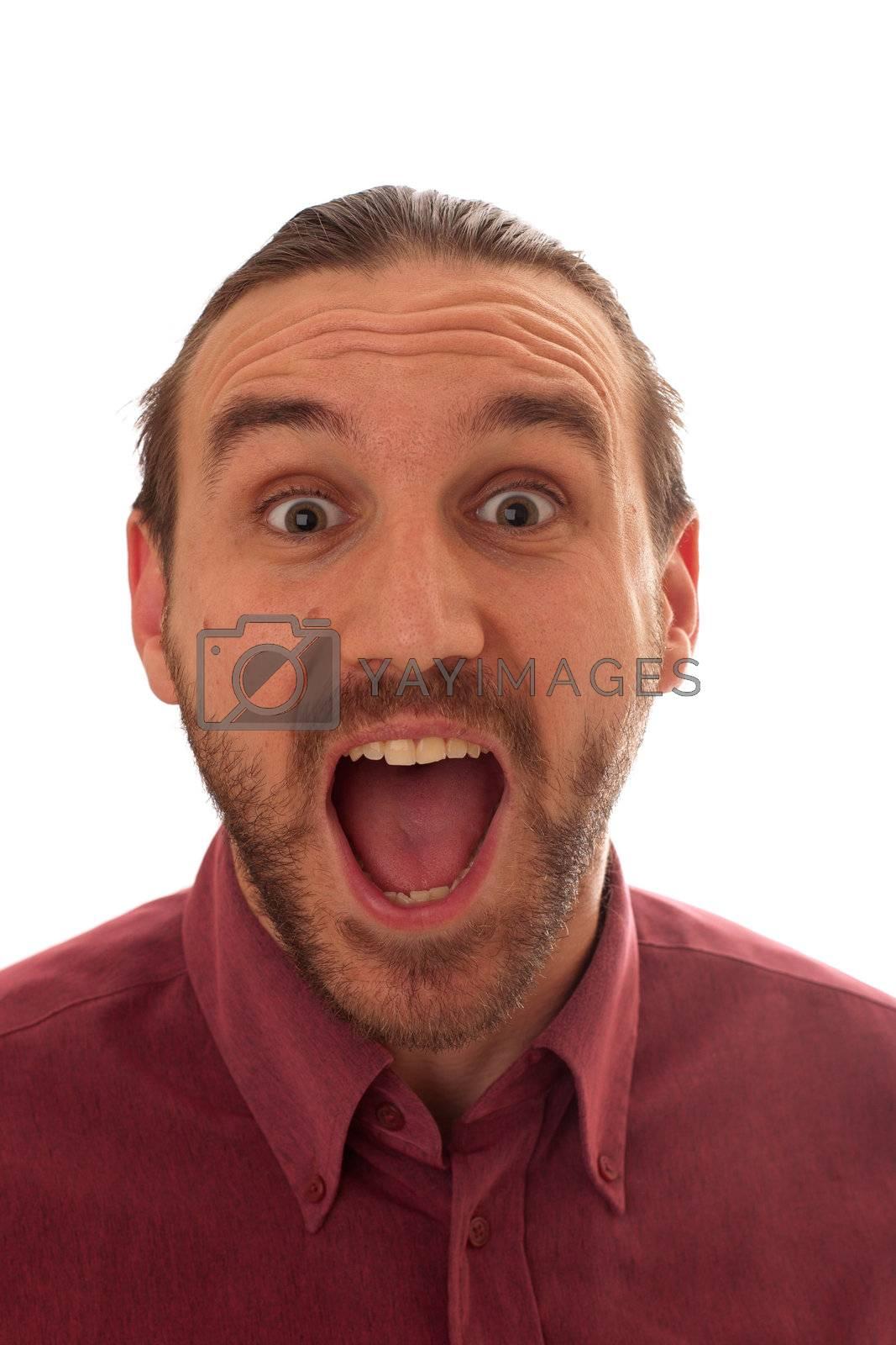 Royalty free image of expressive men by niavuli