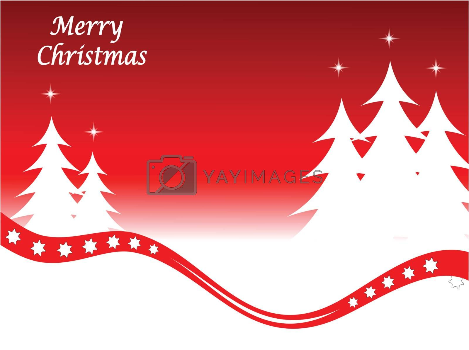 Royalty free image of Abstract red christmas winter vector scene by mhprice