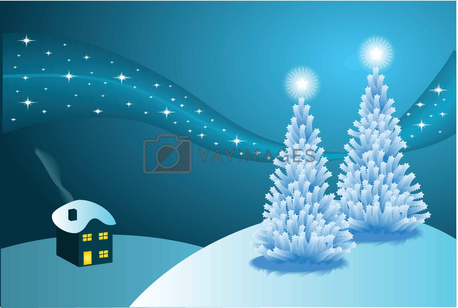Royalty free image of Abstract winter vector background scene by mhprice