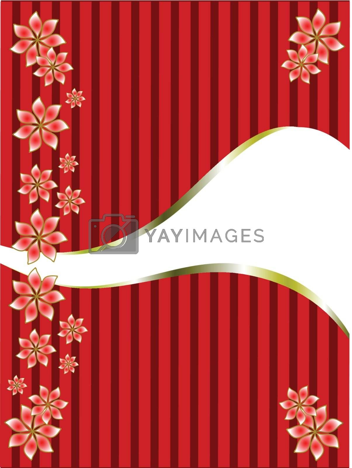 Royalty free image of a gold floral design  by mhprice