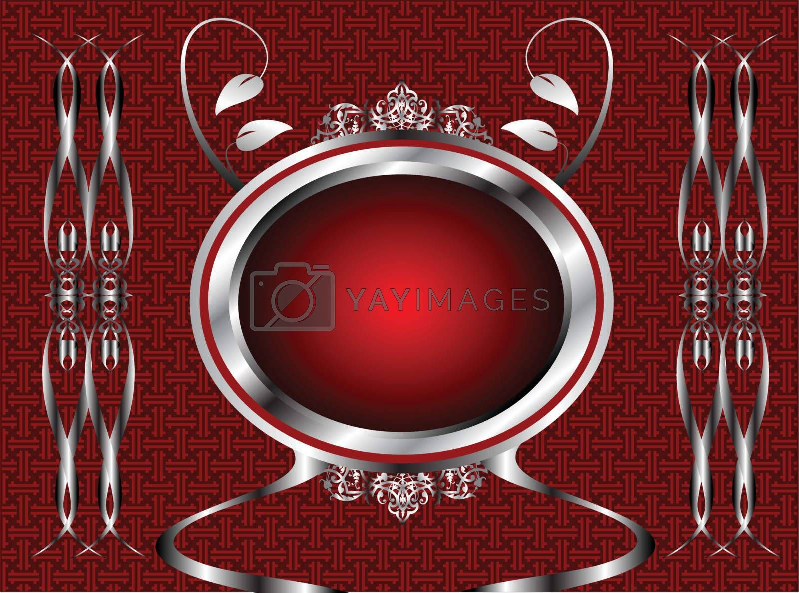 Royalty free image of Red and silver floral background by mhprice
