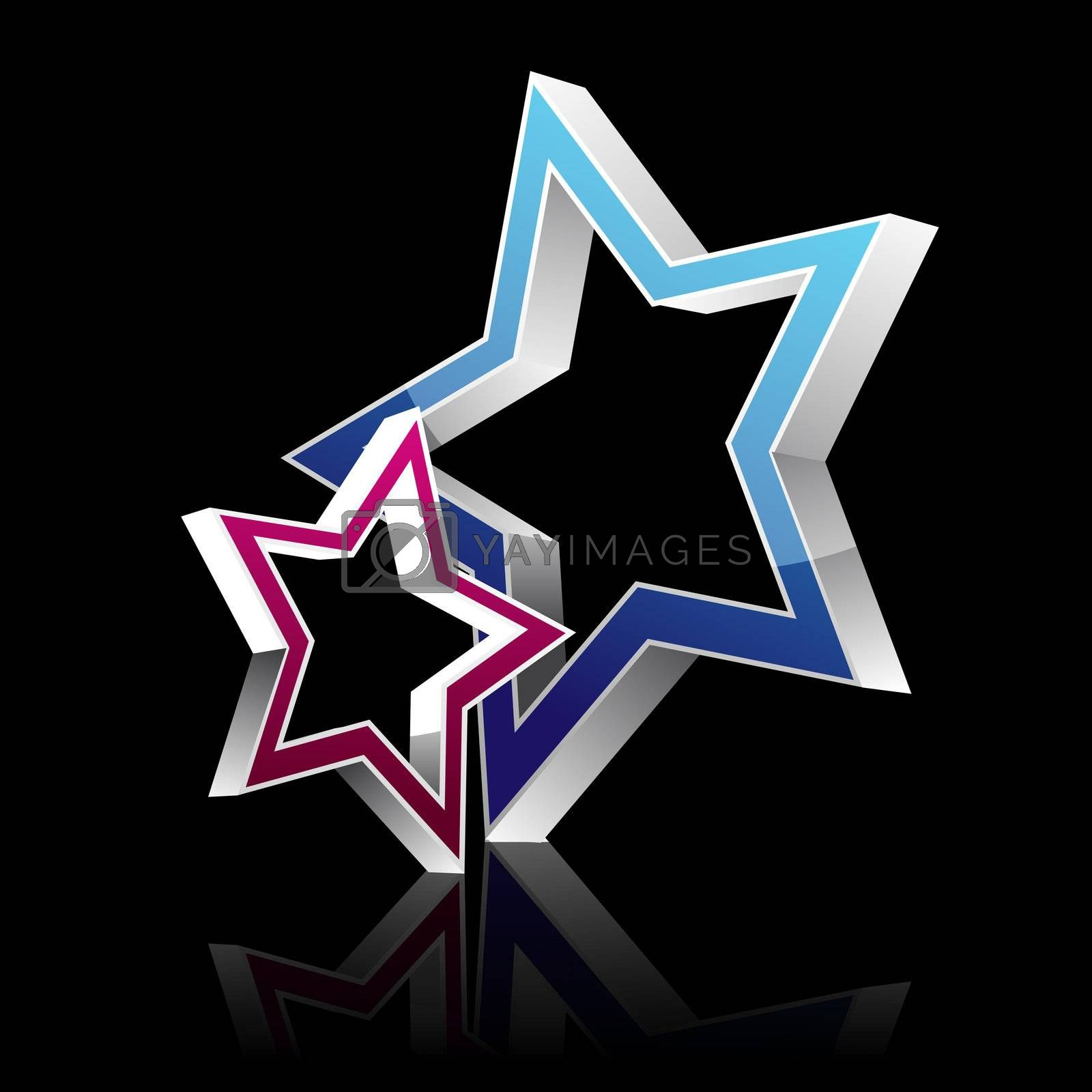 Royalty free image of vector star by get4net