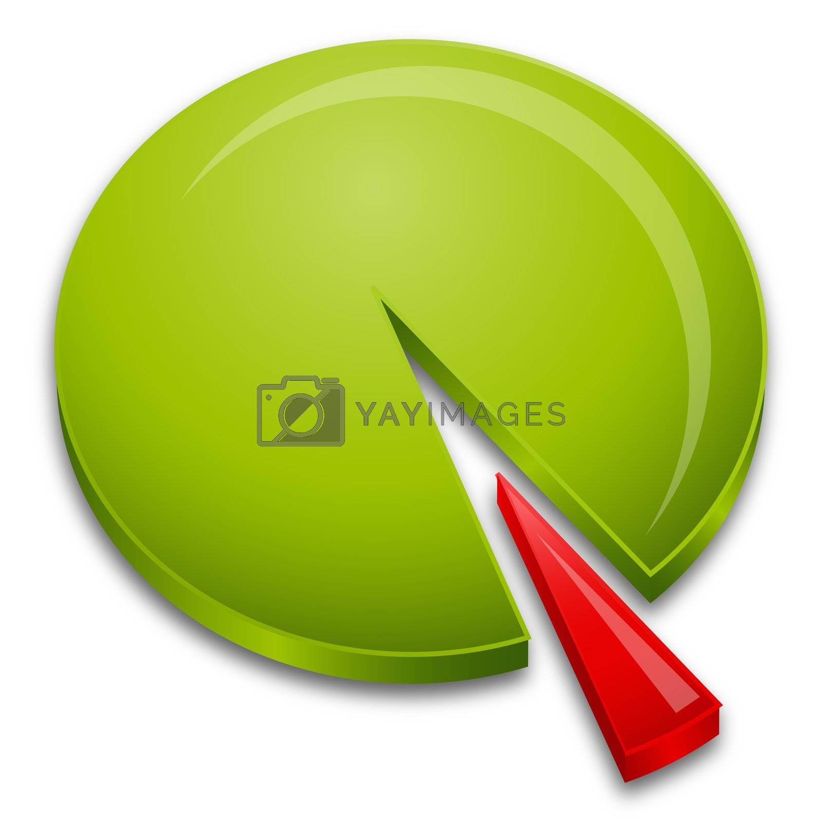 Royalty free image of pie chart by get4net
