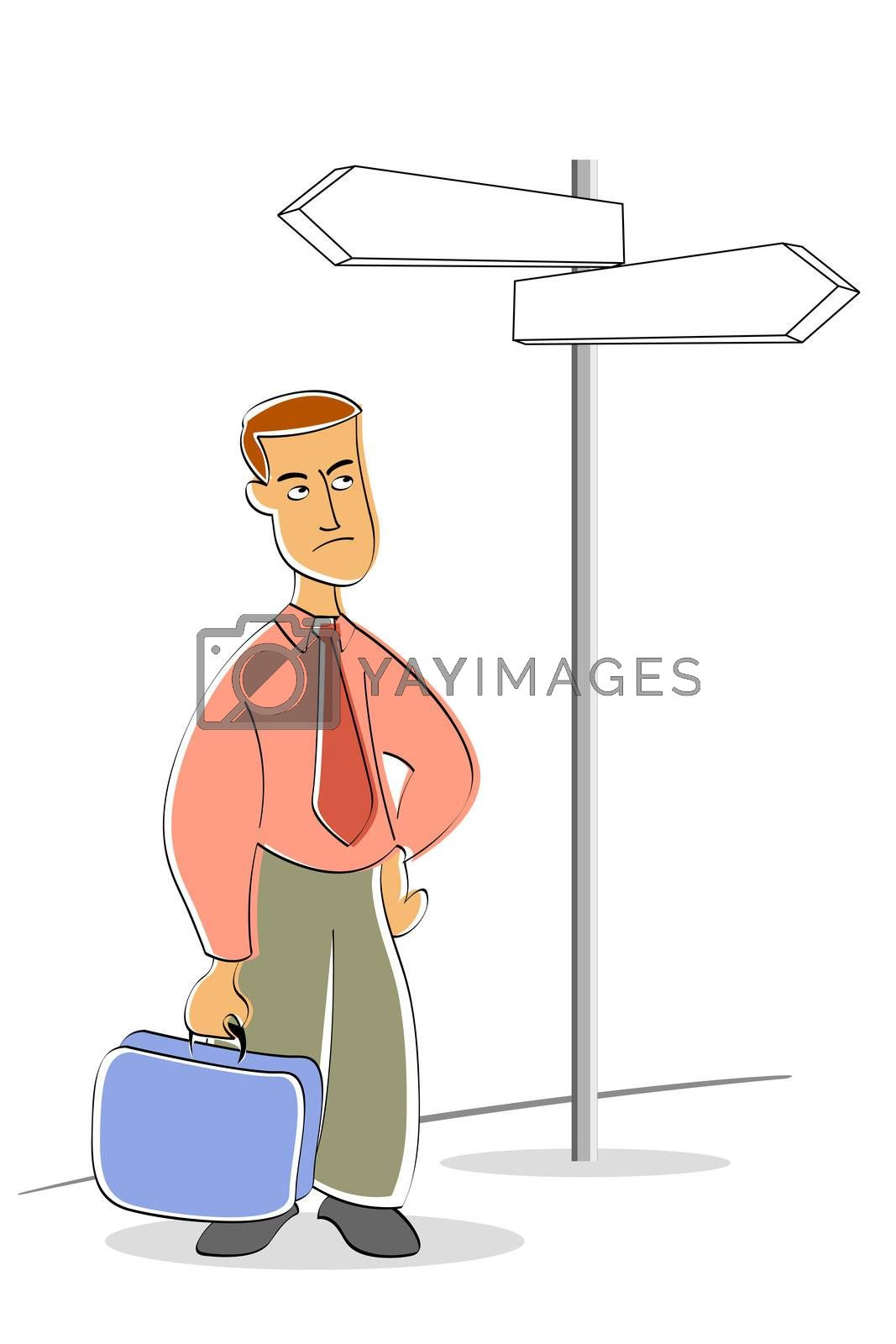 Royalty free image of business man waiting on stop by get4net
