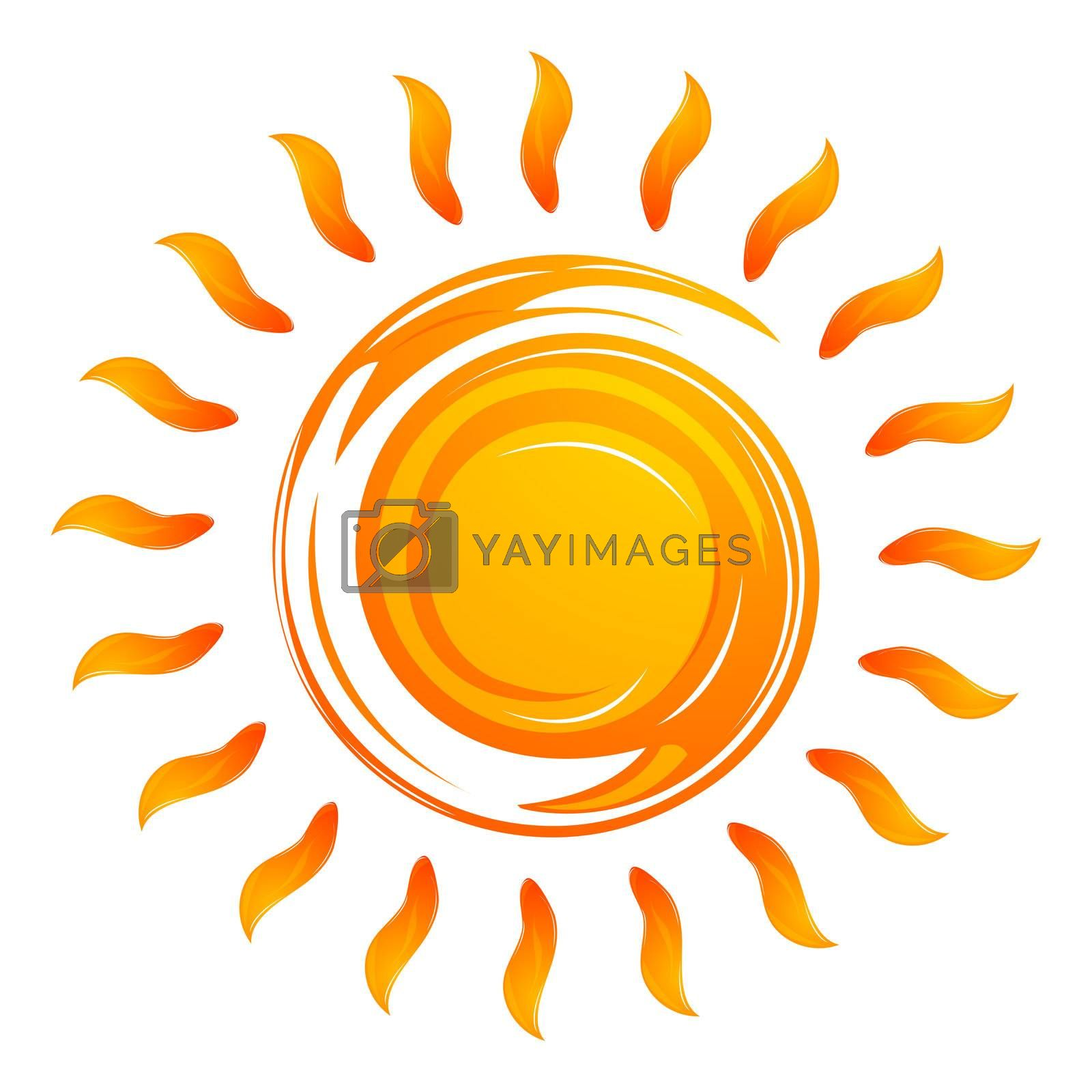 Royalty free image of warming sun by get4net